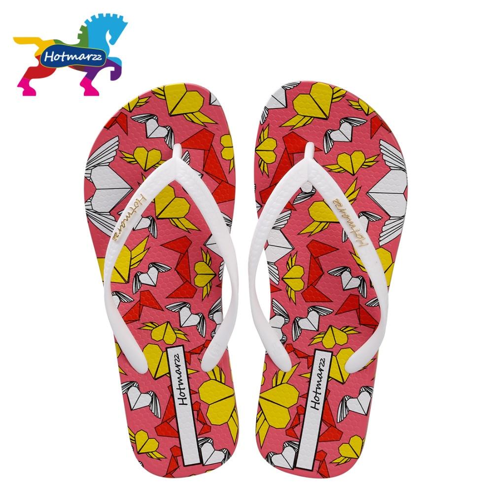 Hotmarzz Women Slippers Summer Flip Flops Fashion Slides Cartoon Heart Love Beach Sandals Slippers Ladies House Shoes Woman women slippers summer beach slippers flip flops sandals women pearl fashion slippers ladies flats shoes free shipping