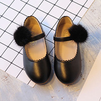 WENDYWU Spring Autumn Children Pu Leahter Flats For Baby Girl Brand Party Mary Jane Kid Fashion