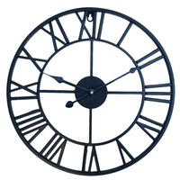 High precision Wall Clock Modern Design Retro Iron Art Clock Three Dimensional Roman Numerals Silent Wall Clocks Home Decor Hot