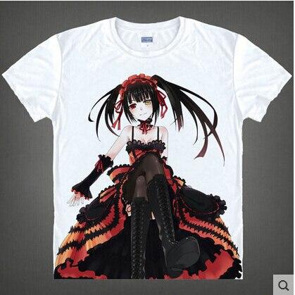 Date A Live T shirt Tokisaki Kurumi Yoshino Cosplay T Shirt Fashion Anime Cotton Tops Tee For Men Women