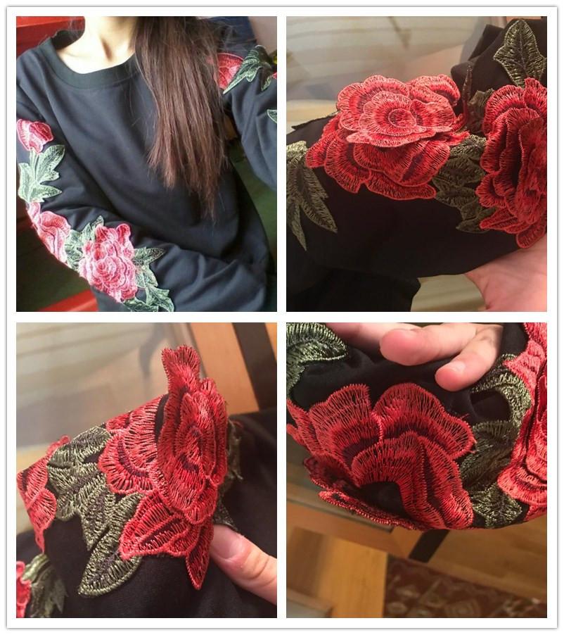 HTB18BRshgMPMeJjy1Xcq6xpppXa7 - Rose Embroidery Sweatshirt Women Vintage Black Long Sleeve Autumn Pullover 2017 PTC 290
