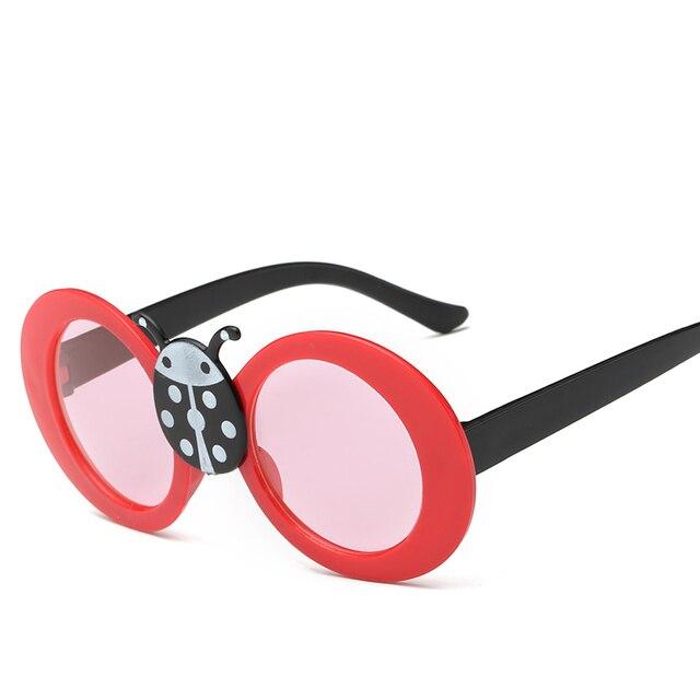 0ae8d08ce1298 Laura Fada Bonito Estilo Joaninha Dos Desenhos Animados de Animais  Decoração Óculos De Sol UV400 Crianças
