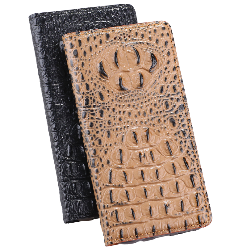 "For Huawei Honor 4C Pro 5.0"" Case Cover, 3D Crocodile Design Flip Genuine Leather Case Cover For Huawei Y6 Pro Phone Case"