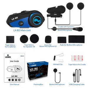Image 5 - Bluetooth гарнитура для мотоциклетного шлема, беспроводная гарнитура с Bluetooth, Intercom BT, intercomunicador, bluetooth