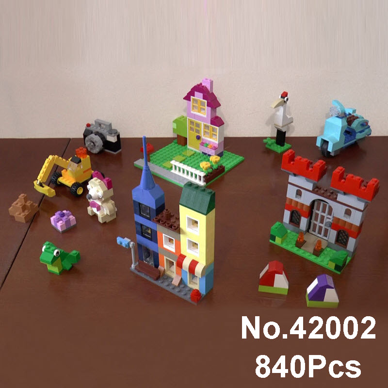 Lepin 42002 840Pcs Genuine Creative Series The Large Brick Box Building Blocks Model Bricks Children Toys Compatible With 10698 степлер мебельный со скобами sparta 42002