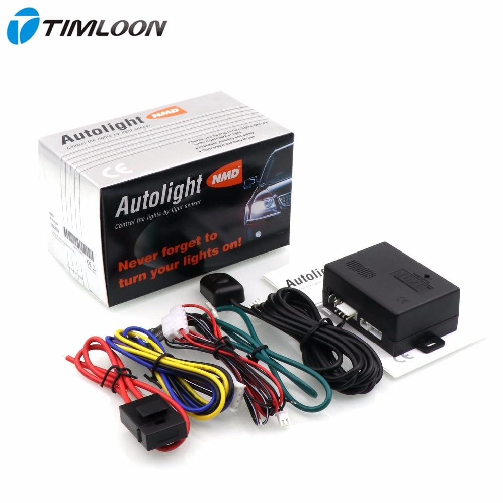 Nmd db600d universal 12v carro auto sistema de sensor de luz automaticamente controlar as luzes de ligar e desligar por sensor de luz