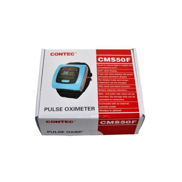 Contec CMS50F Color OLED Display Wrist Pulse Oximeter, SPO2, Pulse Rate, Blood Oxygen Monitor cms p contec pc based usb connection pulse oximeter monitor free software heart rate pulse oxygen blood spo2 review test meter
