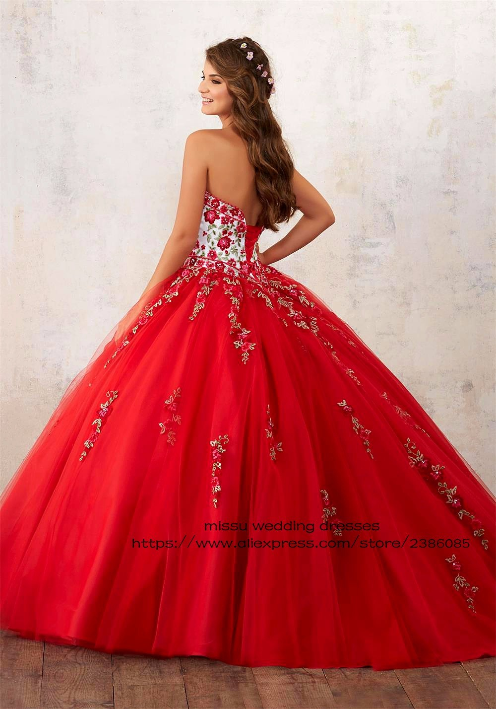 9184e05a68 Elegant 2018 Pink Red Quinceanera Dress Embroidery Ball Gown Tulle Vestidos  De 15 Anos Girls Sweet 16 Dresses with Jacket CR212