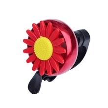 Подсолнечника образный Детский велосипедный Звонок на руле велосипеда кольцо звонка звуковой сигнал(красный