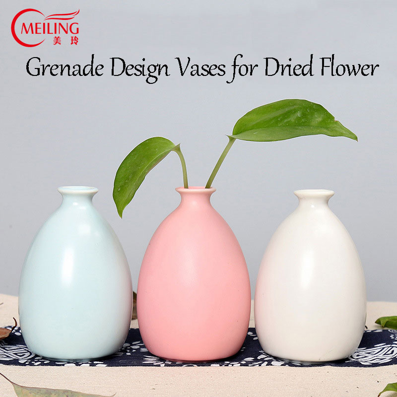 Meiling Creative Small Vase White Blue Red Decorative Vase