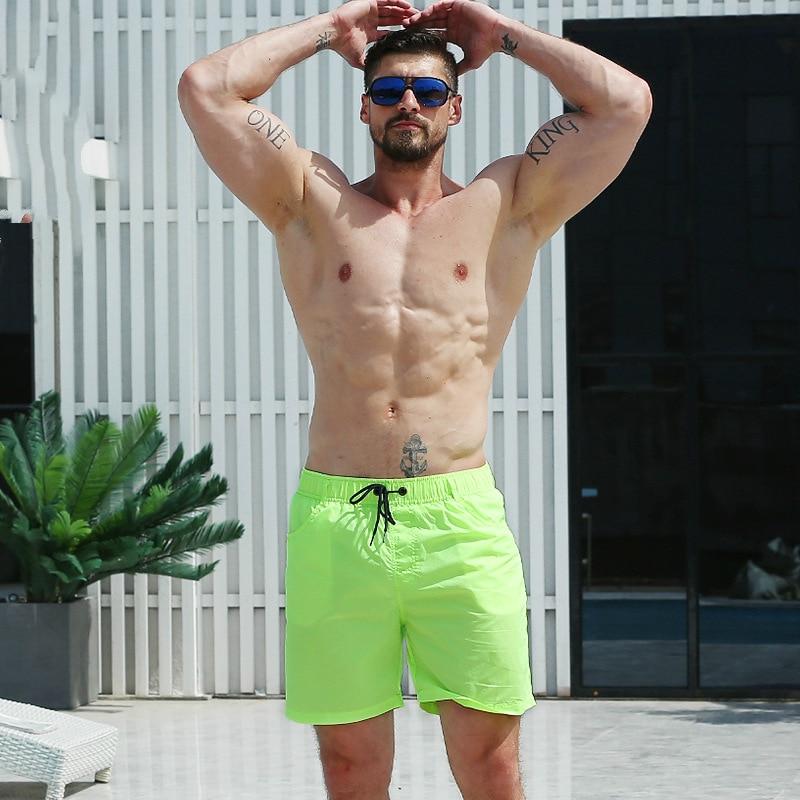 2019 Swimwear Mens Swimming Trunks Mens Swim Briefs Maillot De Bain Homme Bathing Suit Bermuda Surf Beach Wear Man   Board     Shorts
