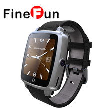FineFun U11C SmartWatch U11C Leather Strap Smart Watch Support Micro SIM Card Bluetooth Connectivity for Android Phone IOS