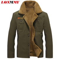 LONMMY M 5XL Military Jacket Men Coat Army Velvet Thickening Cotton Air Force 1 Bomber Jacket