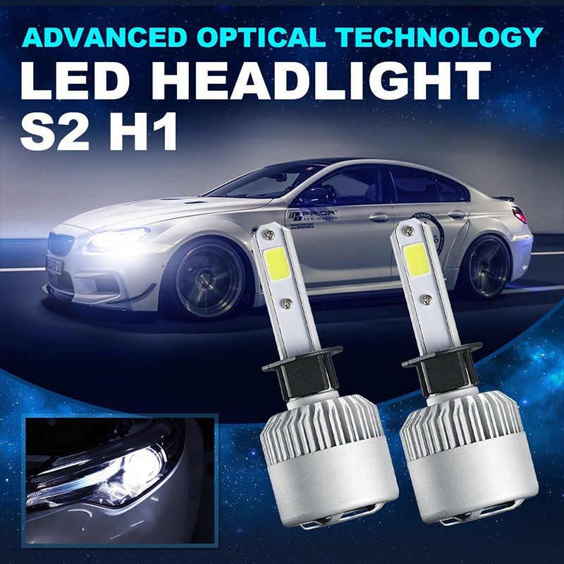 2 шт. H1 светодиодный H11 H3 H4 H7 H13 9005 HB3 9006 HB4 лампа фары для автомобиля 12 V 60 W 8000LM комплект передних светодиодных фар автомобильные лампы накаливания H1