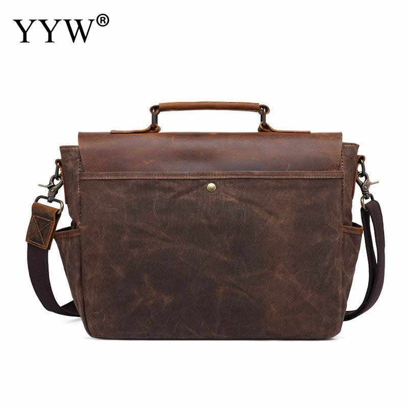 High Quality Men Crazy Horse Leather Vintage Crossbody Bag Hotsale Soft  Messenger Bag Male Shoulder Fashion Genuine Leather