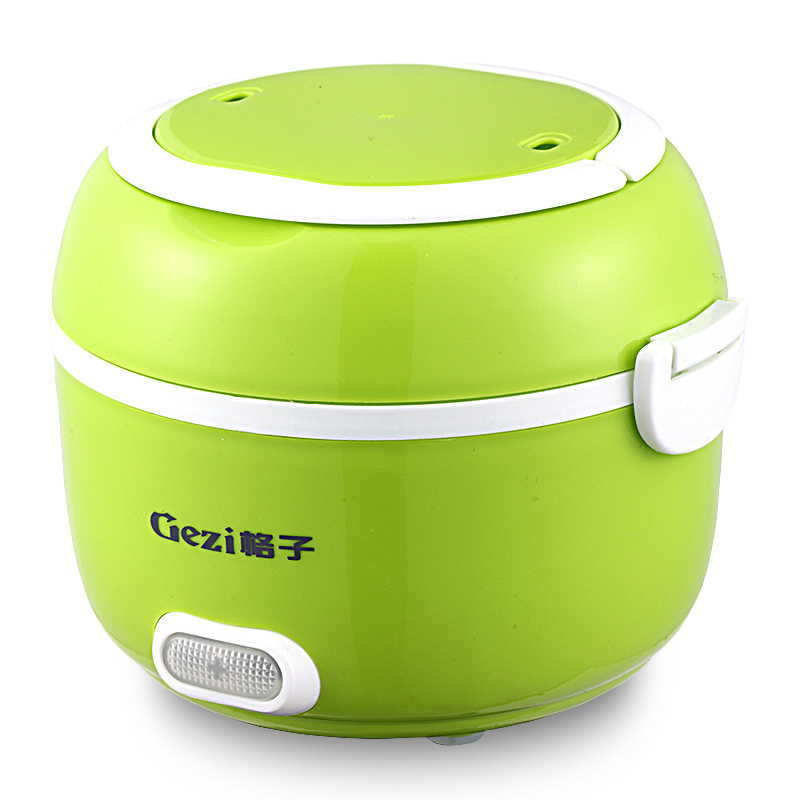 Electric Lunch Box Portable Mini Rice Cooker 1-2 People Plug-in Electric Food Warmer Artifact Automatic Heating 2L 3 layer rice cooker 2l electric heating lunch box stainless steel liner portable steamer food container thermal box 200w 220v