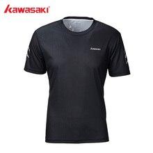 Kawasaki футболка для бадминтона, Мужская быстросохнущая дышащая футболка с коротким рукавом, футболки для тренировок, настольного тенниса, мужская спортивная одежда, ST-S1115