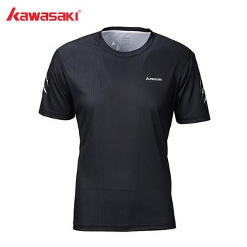 Kawasaki Badminton T-Shirt mężczyźni szybkie suche oddychające koszulki treningowe z krótkim rękawem tenis stołowy dla mężczyzn odzież sportowa ST-S1115 tanie i dobre opinie O-neck Pasuje prawda na wymiar weź swój normalny rozmiar Poliester Dark Blue 100 Polyester M~4XL Sportswear Short-sleeved Shirt