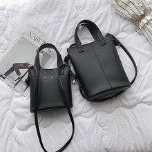 Female Bucket Tote Bags For Women 2019 Quality PU Leather Luxury Handbags Designer Sac Main Ladies Shoulder Messenger Solid Bag цена и фото