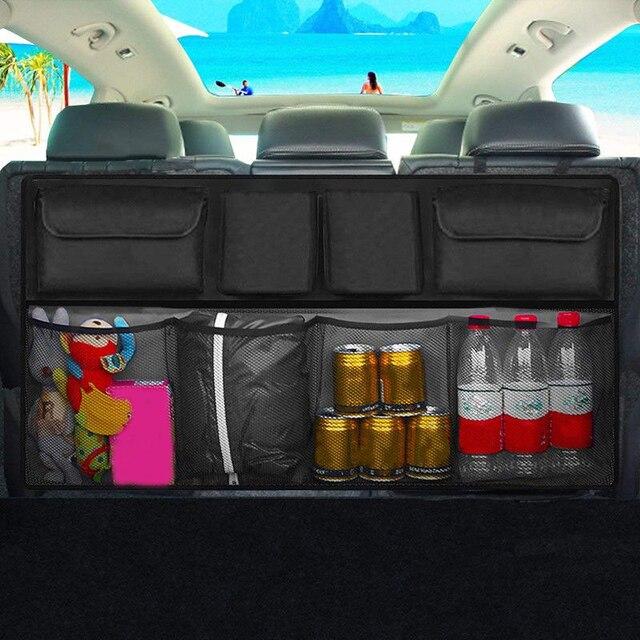 Araba gövde organizatör büyük kapasiteli ayarlanabilir arka koltukta Oxford saklama çantası evrensel otomobil koltuk arka organizatörler aksesuarları