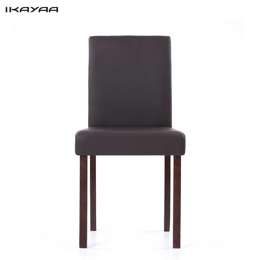 Astounding Ikayaa Us Stock Faux Leather Dining Chairs Wood Frame Padded Kitchen Side Parson Breakfast Stools Restaurant Furniture Cadeira Evergreenethics Interior Chair Design Evergreenethicsorg