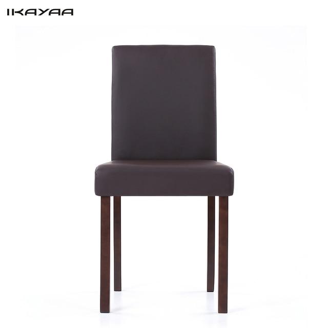 metal frame leather dining chair folding floor australia ikayaa us stock faux chairs wood padded kitchen side parson breakfast stools restaurant
