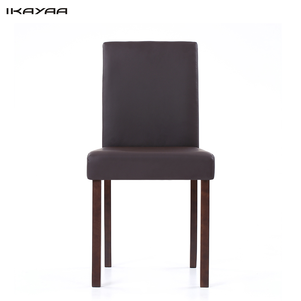 IKayaa US Stock Faux Leather Dining Chairs Wood Frame Padded Kitchen Side Parson Breakfast Stools Restaurant