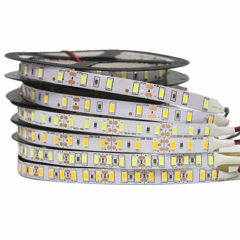 Super Bright 1m 2m 3m 4m 5m SMD 5630 LED strip flexible light DC 12V Not Waterproof IP20 60/90/120 leds/m diodes Lamp Warm White