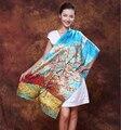 Historia Shanghai Historia Shanghai Bufanda de Seda Sensación de la Mano de Calidad Superior Top marca borla 172*52 larga bufanda de pashmina de seda foulard enfant