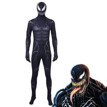 Spiderman Venom Cosplay costume mask jumpsuit Black Edward Brock Dark Superhero Helmet Halloween Party Props DropShipping - DISCOUNT ITEM  9% OFF Novelty & Special Use