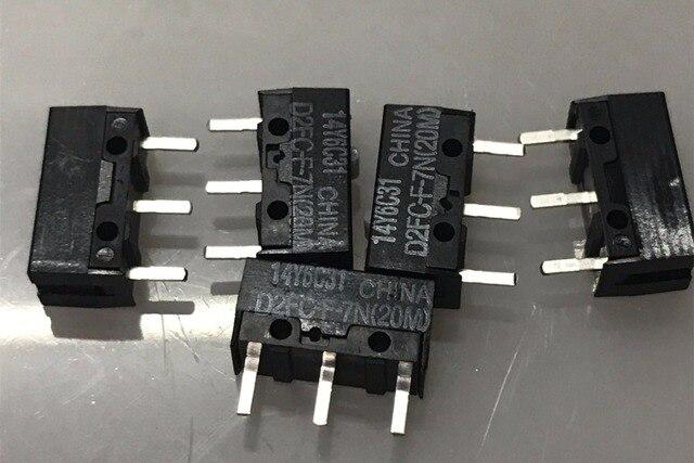 5pcs OMRON mouse microswitch D2FC-F-7N(20M) 3 pin Logitech RAZER Apple