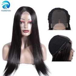 Бразильские 4x4 кружевные фронтальные человеческие волосы парики прямые волосы длинные парики Remy Middel часть кружева парики для женщин