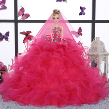 2017 Hot Sell 45CM Wedding Dress Doll Top Grade Toys Collection Get Married Dolls Birthday Present