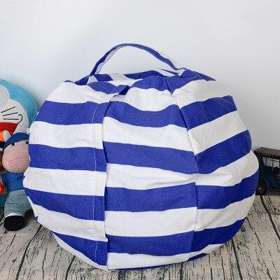 6 цветов чучело для хранения кресло для детей-Пуф Пуфик для хранения игрушек - Цвет: Blue