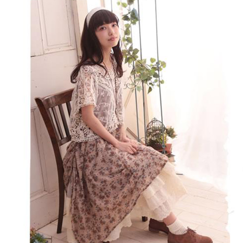 08392ae7d12 Japanese Mori Girl Vintage Summer Dress Women s Casual Two Piece Outfits  Sweet Vestiti Donna Cute Female Vestido Dresses U131-in Dresses from  Women s ...