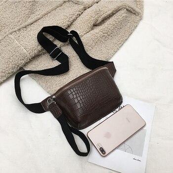 CROWDALE Women bag crocodile multicolor messenger chest bag clutch female Pu leather handbag cross body bag Fashion high quality 5
