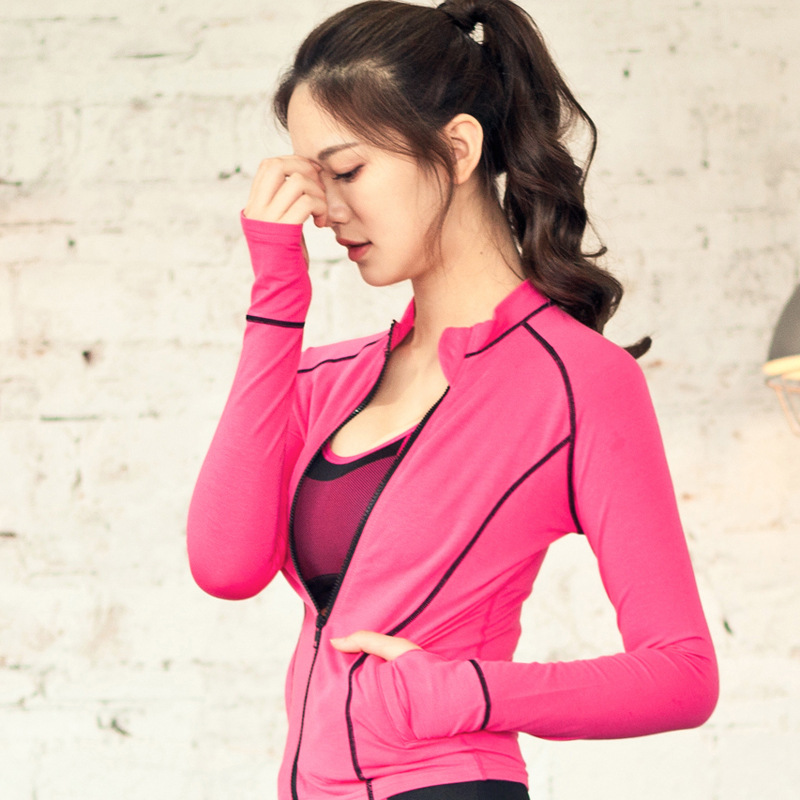 2018 Sport Shirt Women Yoga Top Fall New Fitness Clothes Personal Show Thin Long Sleeved Sports Outdoor Running Blouse