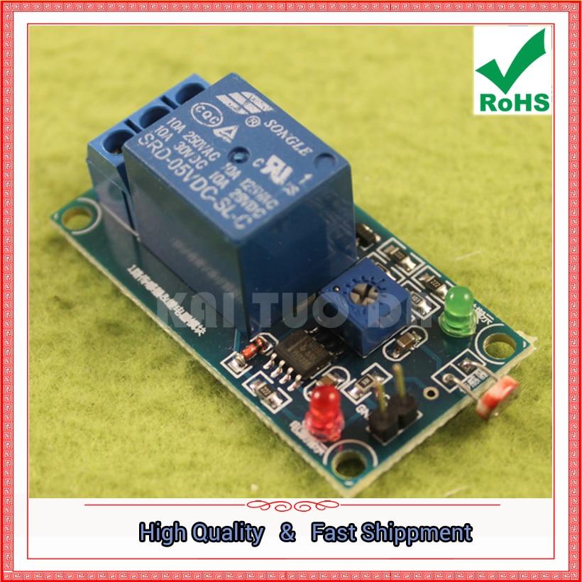 Бесплатная доставка 2 шт. 5 В фоторезистор Сенсор плюс модуль реле (нет света Сенсор) (C ...