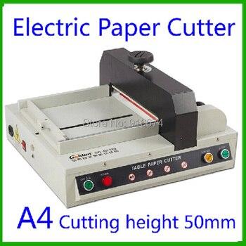 Новый сверхмощный A4 размер настольный автоматический перематыватель электронная бумага резак стек бумажный резак