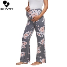 Chivry 2019 New Women Maternity Pants Pregnancy Trousers Pregnant Straight Loose Wide Clothing