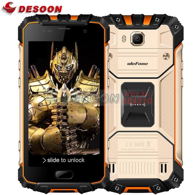 Ulefone Панцири 2 IP68 Водонепроницаемый мобильный телефон 5.0 дюймов fhd 6 ГБ Оперативная память 64 ГБ Встроенная память helio P25 Восьмиядерный 2.6 ГГц NFC 4700 мАч пылезащитный 4 г