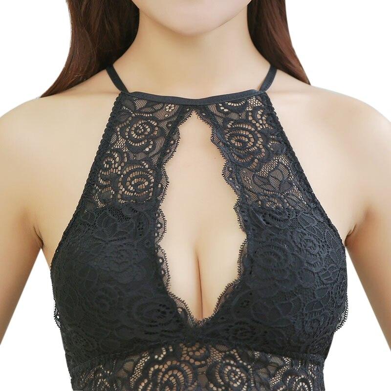 Women Sexy Lace Stripes Lingerie Underwear Women Bra Collection Harness Top Halter Tank