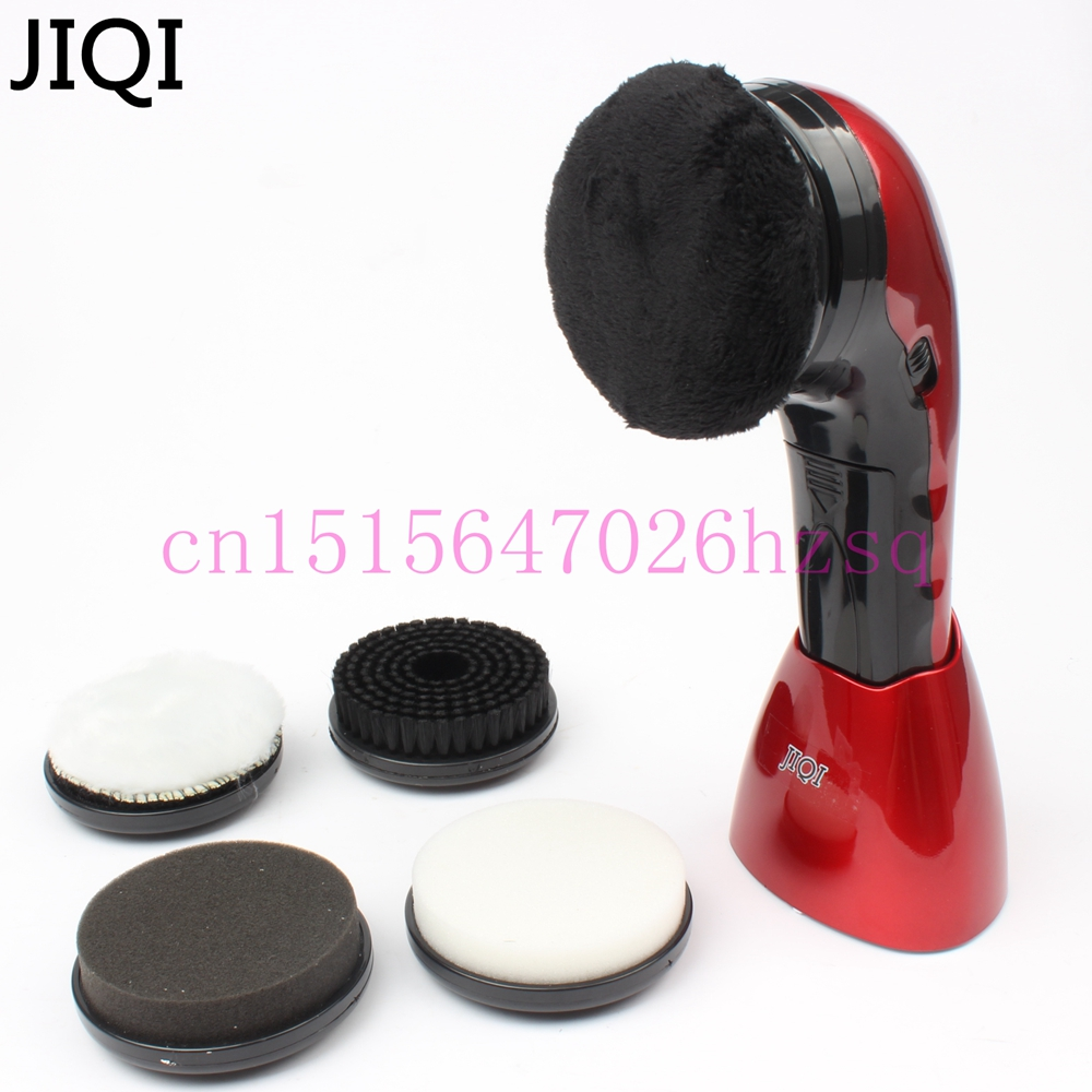 JIQI household  electric mini shoes polisher hand-held portable Leather Polishing Equipment automatic clean machine bear 220 v hand held electric blender multifunctional household grinding meat mincing juicer machine