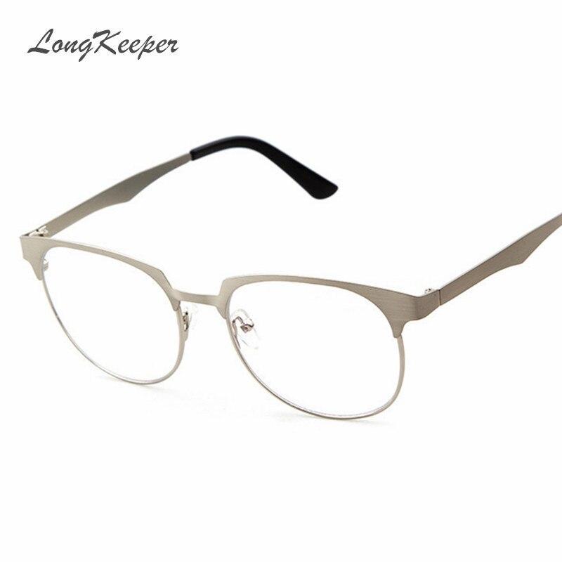 LongKeeper Metal Alloy Glasses Frame for Women Men Brand Designer ...