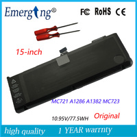 10 95v 77 5Wh New Original Laptop Battery For APPLE MacBook Pro 15 A1286 A1382 MC723