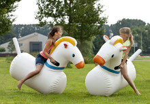 Customized Commerical Giant Adults and Kids Airtight Inflatable Sport Games Derby Pony Horses