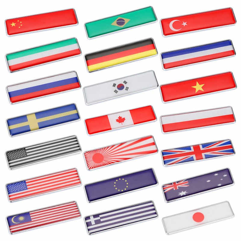 Automobile Motorcycle Accessories JAPAN USA KOREA Brazil RUSSIA ITALY TURKEY GERMANY UK FRANCE National Flags Car Door Stickers