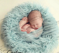 Baby Faux Fur Blanket Basket Stuffer infant Photography Props Background Newborn baby Blanket 100*50cm
