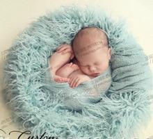 Baby Faux Fur Blanket Basket Stuffer Infant Photography Props Background Newborn baby Blanket 100*50cm