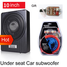 10 Inch Car Home Subwoofer Under Seat Sub Woofer 900W Car Audio Speaker Music System Sound Woofer W/ High To Low Car Amplifier(China)